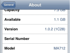 Image of Iphone screen to determine which version.