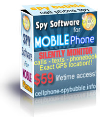 Spybubble mobile phone spy software box.